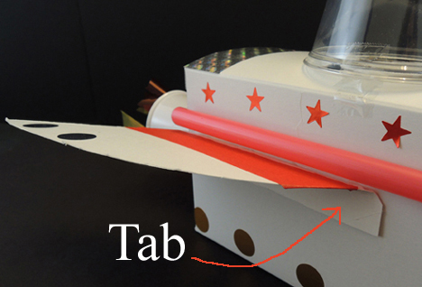 tabbed wing for mouse rocket
