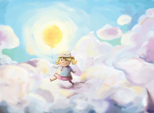 the sun lifted me away_artwork by aliisa lee