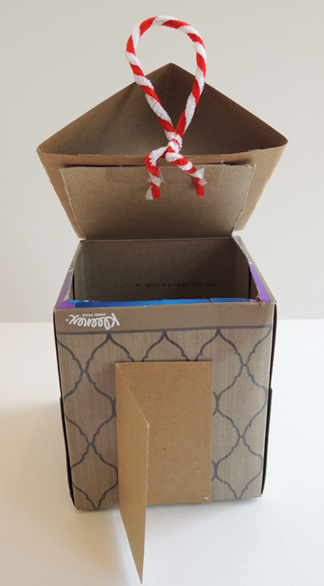 tissue box gingerbread house