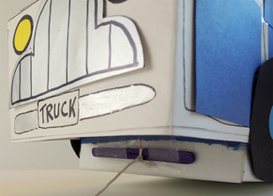 craft stick attached to truck