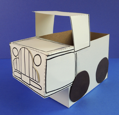 finished template truck