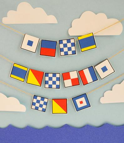 nautical flag necklace