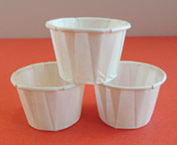 small paper sample cup