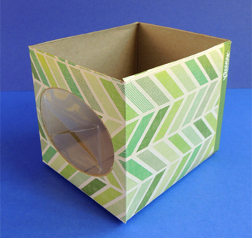 tissue box cut