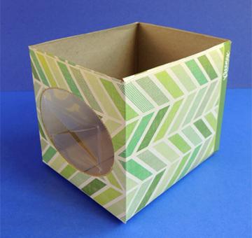 tissue box cut