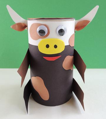 black white brown cow