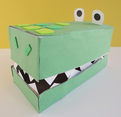 finished croc box