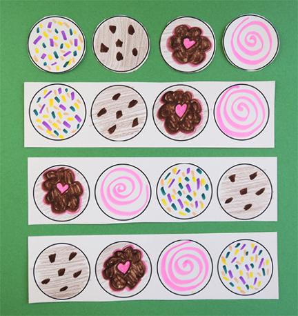 various cookie patterns