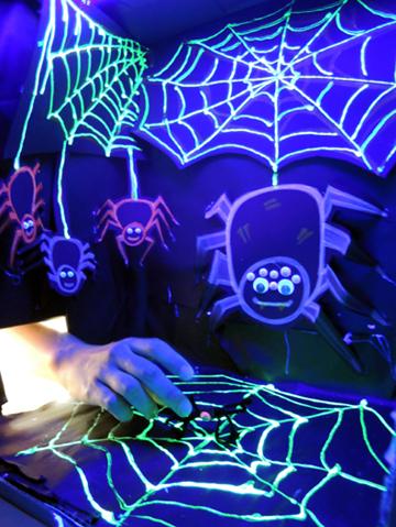 black-light-spider-room