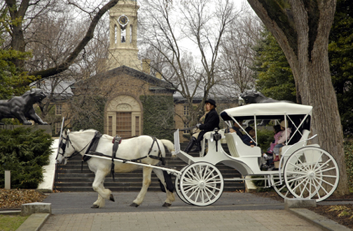 horse-drawn carriage nassau hall