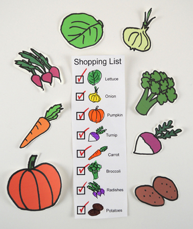 market shopping list