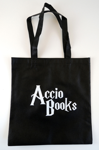 accio books logo by Polly Carlson