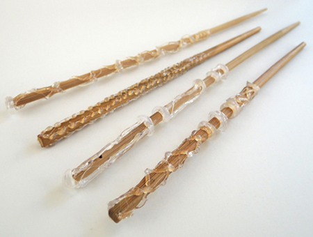 hot glued wands