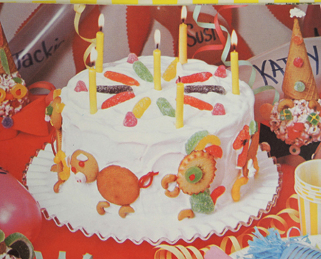 Circus Cake courtesy of Betty Crocker and General Mills