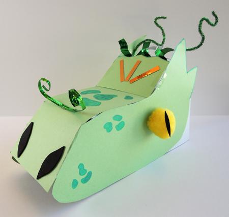 decorated dragon head