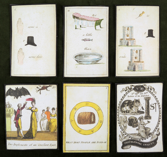 rebus cards, from the collections of the cotsen children's library, princeton university