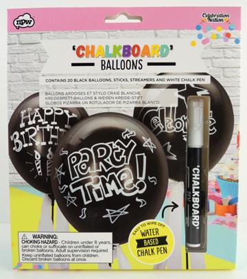 chalkboard balloons by npw