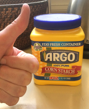 cornstarch thumbs up