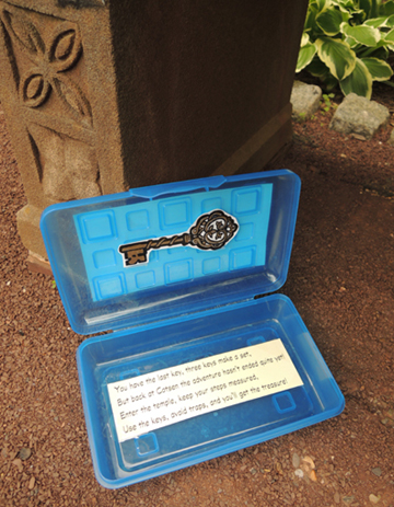 clue box with key