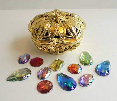 treasure box and gems