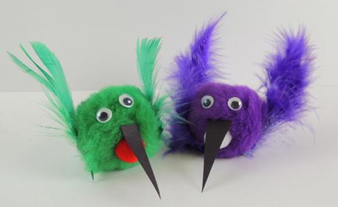 a pair of hummingbirds