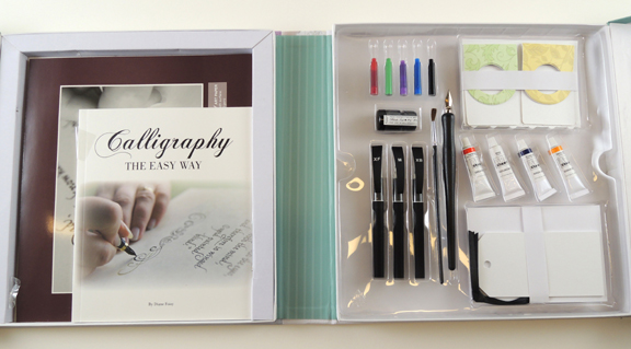 inside of calligraphy kit