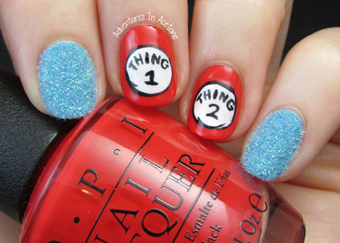 Dr-Seuss-Thing-1-and-Thing-2-nail-art-1