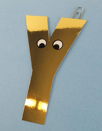 golden letter Y