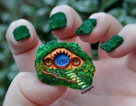 hobbit_hole__nail_art__by_kayleighoc-d5o01j5