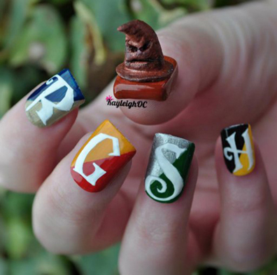 sorting_hat_nail_art_by_kayleighoc-d5hzivv