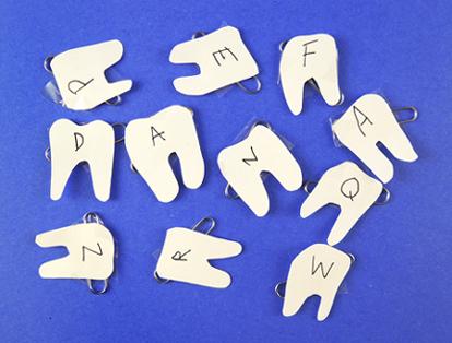 letter teeth