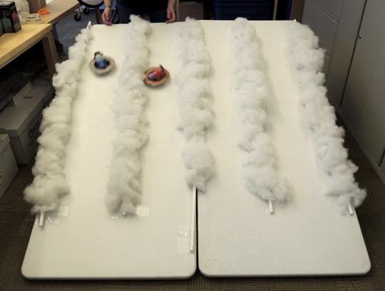 testing the snow tubes
