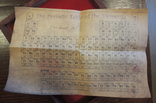 periodic table clue
