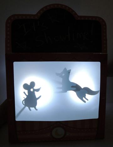 illuminated shadow puppet theater screen
