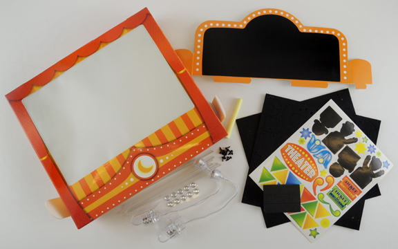 shadow puppet theater kit contents