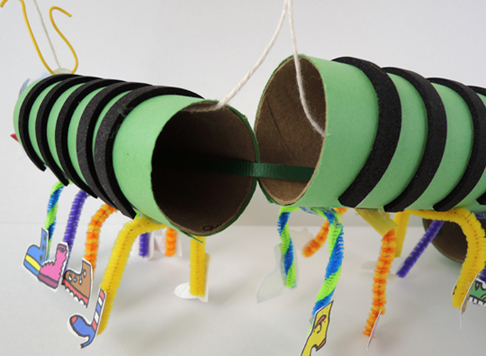 curling ribbon on centipede