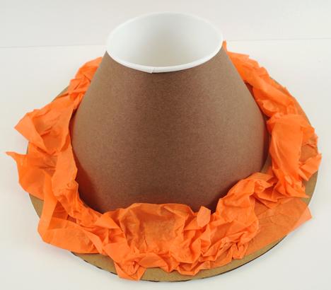 cone with lava border
