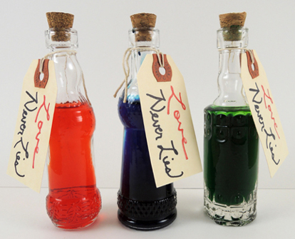three potion bottles