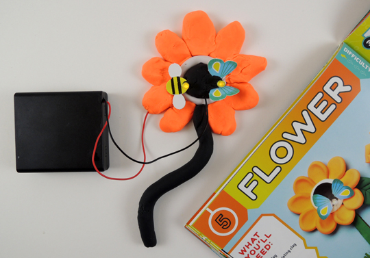 klutz circuit clay flower project
