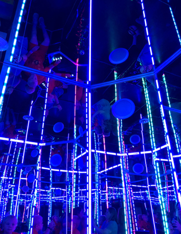 meow wolf blue lights