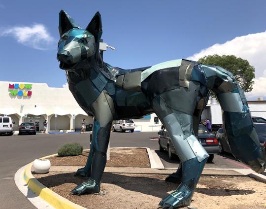 meow wolf sculpture