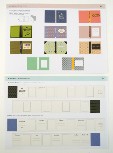 make your own book sheets for my minature library kit