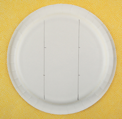 marked paper plate