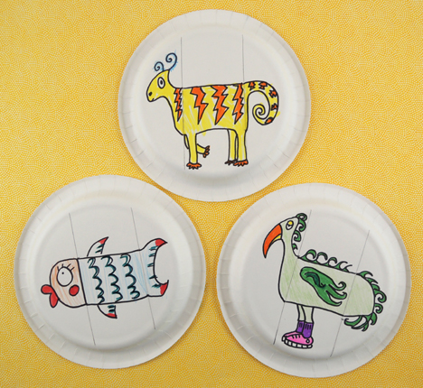 paper plate creatures