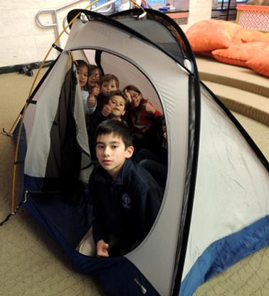 patrol in tent
