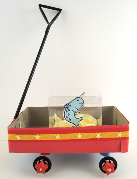 red wagon and narwhal