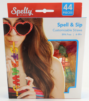 spell and sip straws by spelly