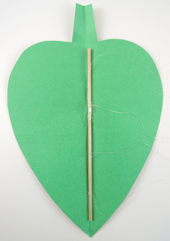 leaf with attached dowel