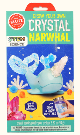 klutz grown your own crystal narwhal kit