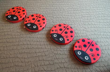 ladybug cushions